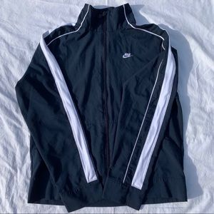 Navy blue and white fit dry Nike jacket
